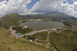 Lago Potrero de los Funes track aerial view