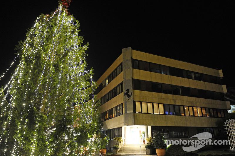 Ferrari's family Christmas: Christmas Tree at the Gestione Sportiva in Maranello
