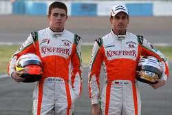 Paul di Resta, Test Driver, Force India F1, Adrian Sutil, Force India F1