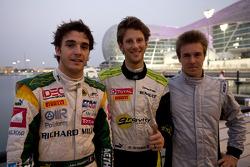 Polesitter Romain Grosjean, second place Jules Bianchi and third place Davide Valsecchi