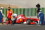 Felipe Massa, Scuderia Ferrari blows up his engine