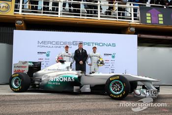 The Mercedes GP team