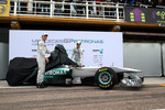 Nico Rosberg, Mercedes GP F1 Team and Michael Schumacher, Mercedes GP F1 Team unveil the new MGP W02