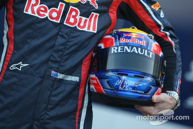 Mark Webber, Red Bull Racing helmet