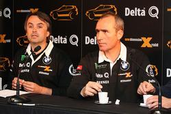 Delta Q BMW X-Raid presentation: Ricardo Leal dos Santos and Stéphane Peterhansel
