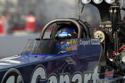 Brandon Bernstein aboard his Copart Top Fuel Dragster