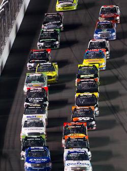 James Buescher, Turner Motorsport Chevrolet and Elliott Sadler, Kevin Harvick Inc. Chevrolet