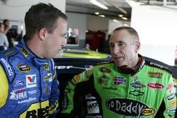 A.J. Allmendinger, Richard Petty Motorsports Ford and Mark Martin, Hendrick Motorsports Chevrolet