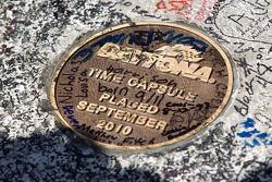 Time capsule on the start-finish line