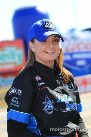 Erica Enders, driver of the ZaZa Energy Chevy Cobalt