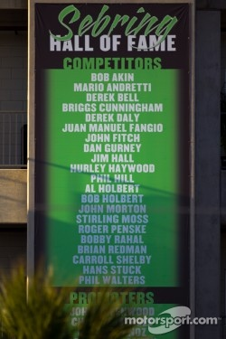 Sebring Hall of Fame competitors signage