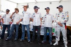 Augusto Farfus Jr., Bill Auberlen, Dirk Werner, Andy Priaulx, Dirk Müller and Joey Hand meet fans