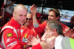 Gianmaria Bruni celebrates the GT pole