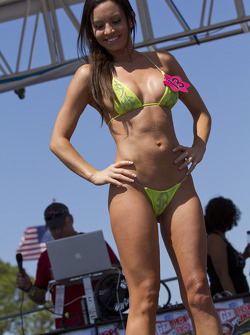 The lovely girls competing in the bikini contest