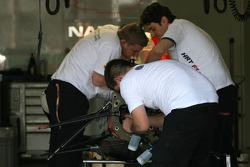 Hispania Racing F1 Team mechanics