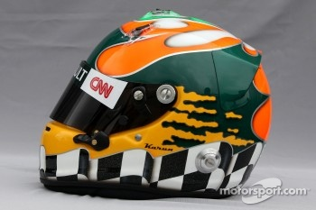 Helmet of Karun Chandhok, test driver, Lotus F1 Team