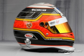 Helmet of Jérôme d'Ambrosio, Virgin Racing