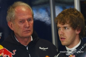 Helmut Marko, Red Bull Racing, Red Bull Advisor with Sebastian Vettel, Red Bull Racing