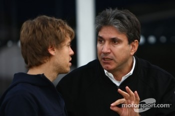 Sebastian Vettel, Red Bull Racing and Pasquale Lattuneddu, FOM, Formula One Management