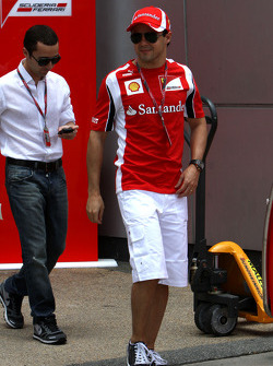 Felipe Massa, Scuderia Ferrari and his manager Nicolas Todt