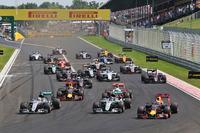 Formel 1 Fotos - Start: Lewis Hamilton, Mercedes AMG F1; Nico Rosberg, Mercedes AMG F1; Daniel Ricciardo, Red Bull Racing