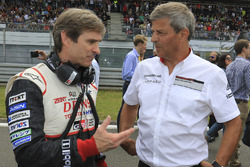 Pascal Vasselon, Toyota Racing technical director, Fritz Enzinger, Vice President LMP1, Porsche Team