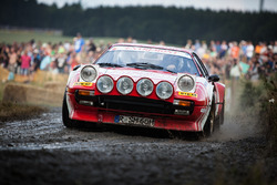 Vintage Ferrari rally car