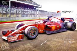 Ferrari Haloscreen Fantasy Concept