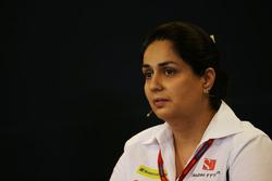 Monisha Kaltenborn, Sauber Team Principal in the FIA Press Conference