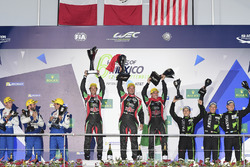 LMP2 podium: first place Ricardo Gonzalez, Filipe Albuquerque, Bruno Senna, RGR Sport by Morand, second place Gustavo Menezes, Nicolas Lapierre, Stéphane Richelmi, Signatech, third place Ryan Dalziel, Pipo Derani, Christopher Cumming, Extreme Speed Motorsp