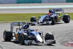 Marcus Ericsson, Sauber C35; Felipe Nasr, Sauber C35