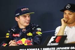 Max Verstappen, Red Bull Racing with Nico Rosberg, Mercedes AMG F1 in the FIA Press Conference