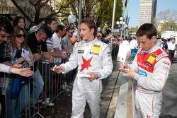 Filipe Albuquerque Audi Sport Team Rosberg Audi A4 DTM, Renger van der Zande Persson Motorsport, AMG Mercedes C-Klasse