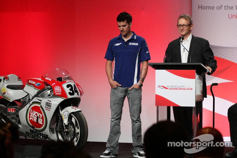 Press conference announcing a 10-year contract to bring MotoGP to the new Circuit of the Americas beginning in 2013: Ben Spies and Kevin Schwantz