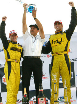 Podium: A.J. Allmendinger, Carl Russo and Justin Wilson