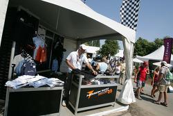Merchandising area at Circuit Gilles-Villeneuve