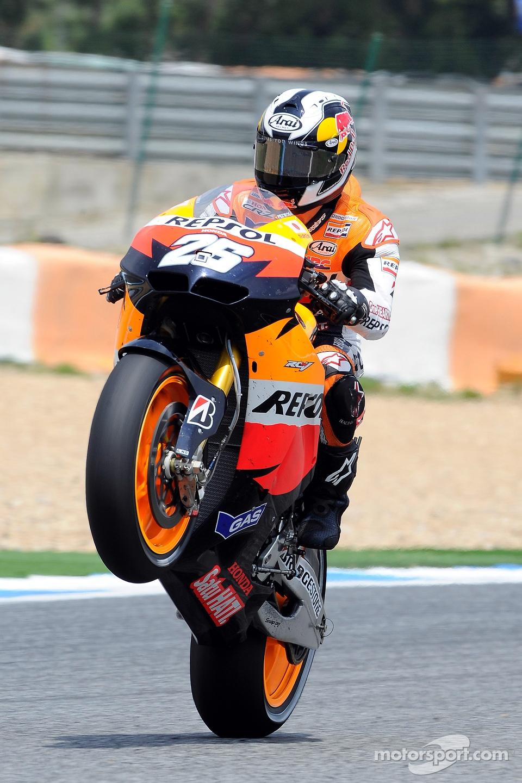 Race winner Dani Pedrosa