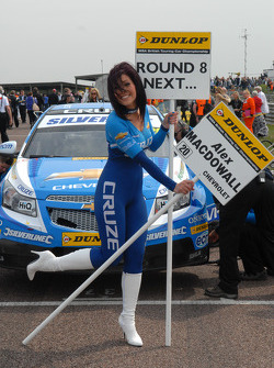 Caroline Hall Grid girl to Alex MacDowall