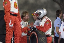 Team McDonald's discuss the upcoming pitstop
