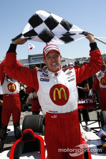 Sbastien Bourdais celebrates