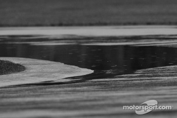 Puddle of water at Senna hairpin