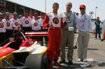 Sébastien Bourdais accepts 'Driver of the Year' award