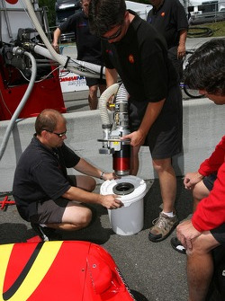 Newman/Haas/Lanigan Racing crew members at work