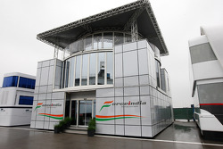 The motorhome of Force India