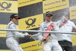 Race winner Bruno Spengler, Team HWA AMG Mercedes, third place Ralf Schumacher, Team HWA AMG Mercedes