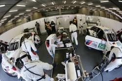 BMW Motorsport pit area