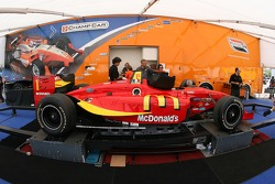 Newman/Haas/Lanigan Racing car of Sébastien Bourdais at technical inspection