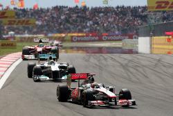 Lewis Hamilton, McLaren Mercedes, MP4-26 leads Nico Rosberg, Mercedes GP F1 Team, MGP W02