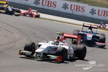 Davide Valsecchi leads Marcus Ericsson