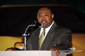 Chevrolet's Nathan Love at the unveiling of the 2005 Indianapolis 500 Pace Car